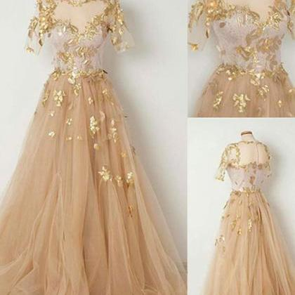 a78211dc8ab8 2018 Chic Vintage Prom Dress Tulle Cheap Long Prom Dress on Luulla