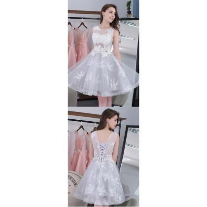 536d7bea Hot Sale Mini Homecoming Prom Dress Short Silver Dresses With Lace ...