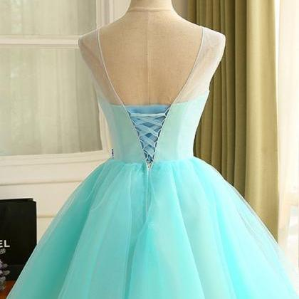2af04c186df ... Light Blue Homecoming Dresses With Round Lace Up Flower Dresses. Cheap  Short Prom Party Dress Absorb.. Cheap Short Prom Party Dress Absorb.