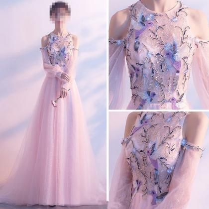 Elegant Pearl Pink Evening Dresses ..