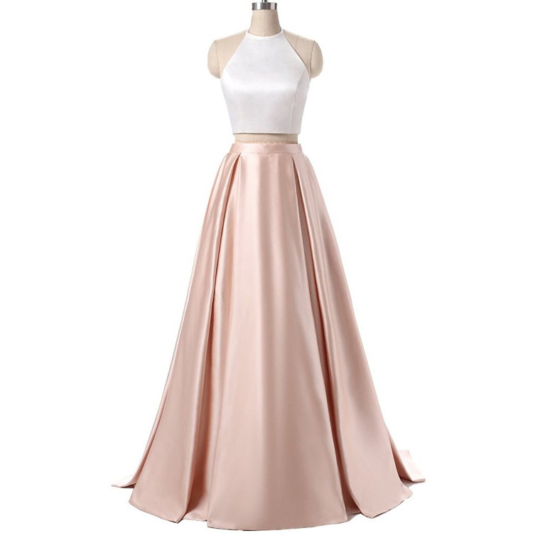 Enticing Sleeveless Prom Dresses, Pink Sleeveless Prom Dresses, Long ...