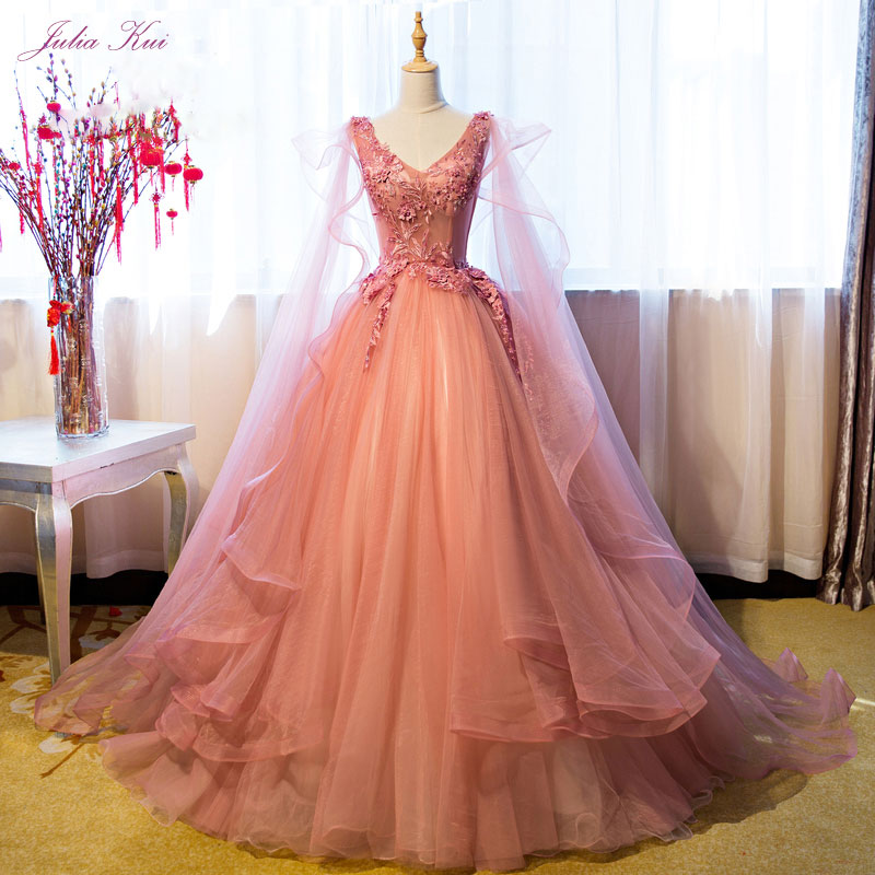a3fdba89c Luxury Appliqued Puffy Long Prom Dress