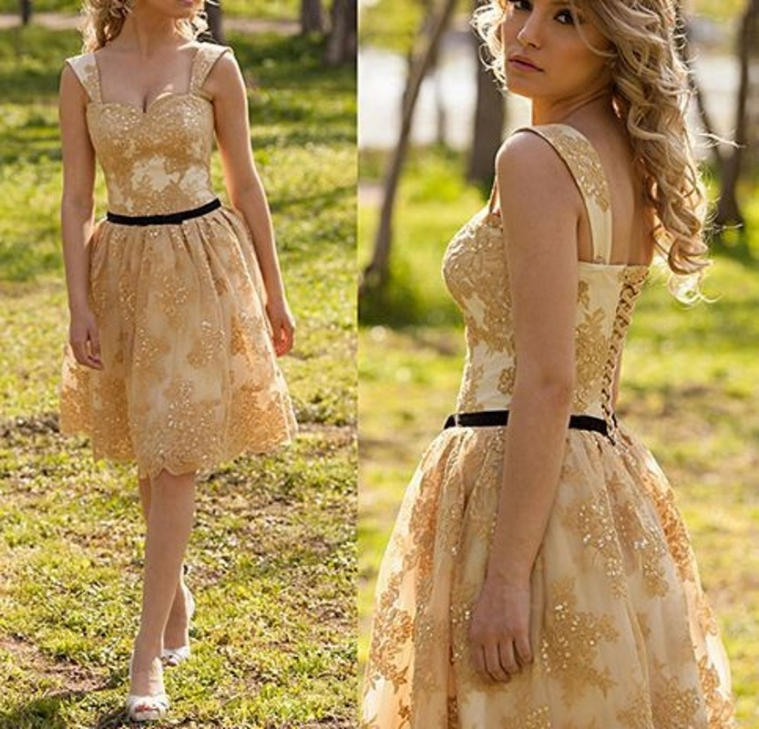 2b0f8e89128 ... Yellow Sleeveless Homecoming Dresses