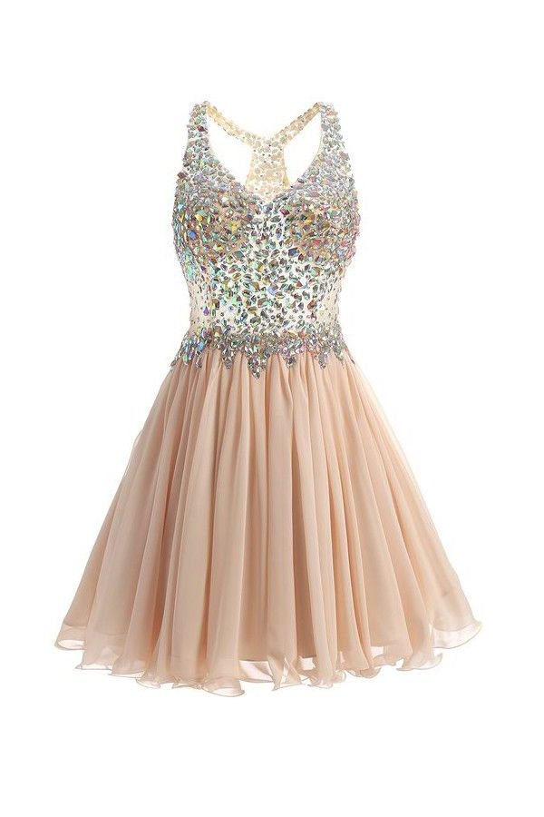 866e7eb8f75 Discount Vogue Prom Dresses 2018 Short Mini Halter A Line Princess  Homecoming Dresses Beaded