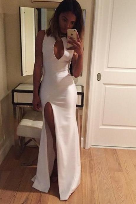 White Mermaid Charming Handmade Prom Dress,Long Prom Dresses,Prom Dresses,Evening Dress, Prom Gowns, Formal Women Dress,prom dress