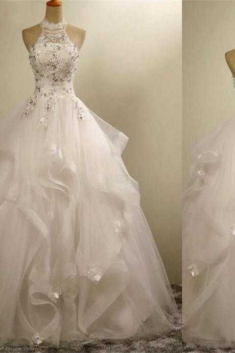 Romantic wedding dress,Ball Gown Wedding Dress,Tulle Wedding dress