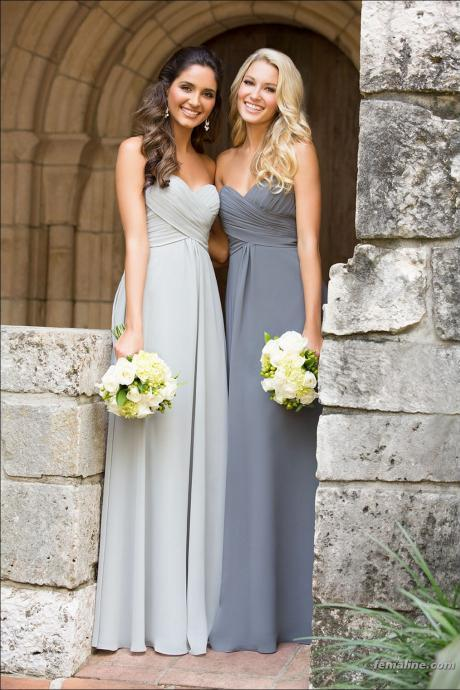 Sweetheart Chiffon Elegant Bridesmaid Dress,Long Sleeveless Bridesmaid Dress,Prom Dress