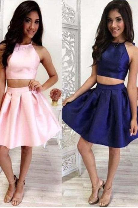 Customized Outstanding Prom Dresses Short, Cute Two Piece Short Homecoming Dress