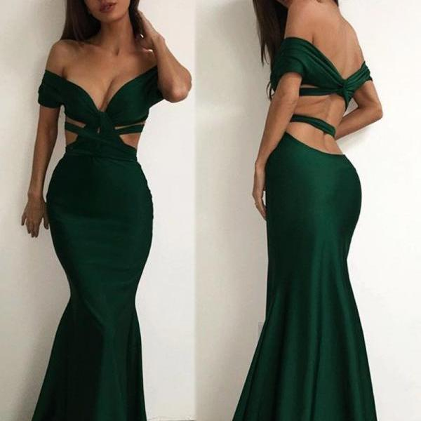 Off the shoulder Charming Long Charming Prom Dresses,Evening Dress,prom dresses