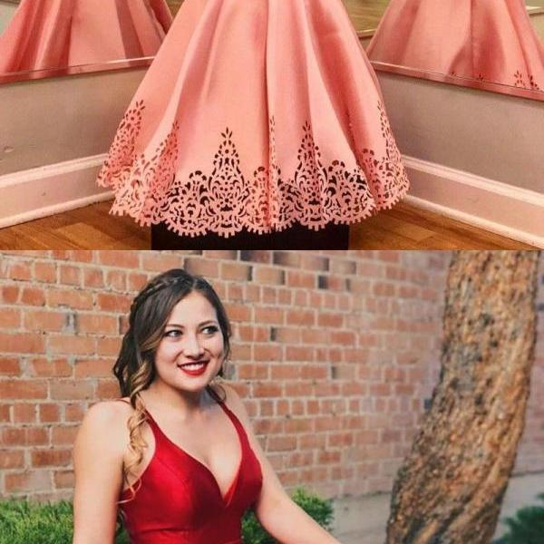 modest v-neck short prom dresses, simple homecoming dresses with low back