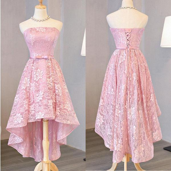 5e04d0bcb38 ... Customized A-line Princess Party Prom Dresses Short Pink Dresses With Lace  Up Bowknot Charming Sequins Halter Homecoming ...